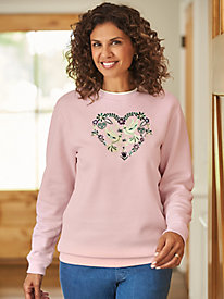 Better-Than-Basic Embroidered Fleece Top