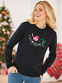 Better-Than-Basic Embroidered Fleece Top by Blair
