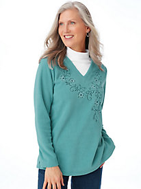 Scandia Fleece Layered-Look Tunic