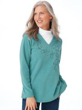 Scandia Fleece Layered-Look Tunic