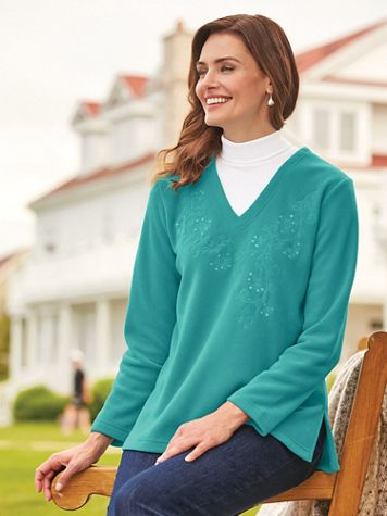 Scandia Fleece Layered-Look Tunic - Image 2 of 5