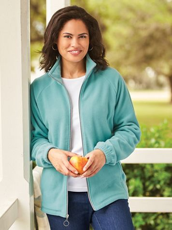 Scandia Fleece Zip-Front Jacket - Image 1 of 8