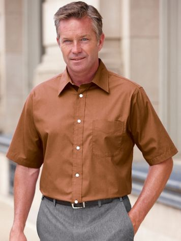 Irvine Park® Short Sleeve Broadcloth Dress Shirt - Image 1 of 7