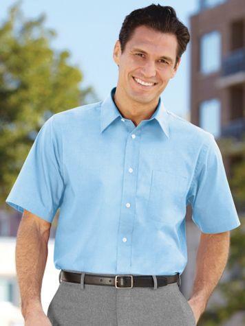 Irvine Park® Short Sleeve Broadcloth Dress Shirt - Image 1 of 6