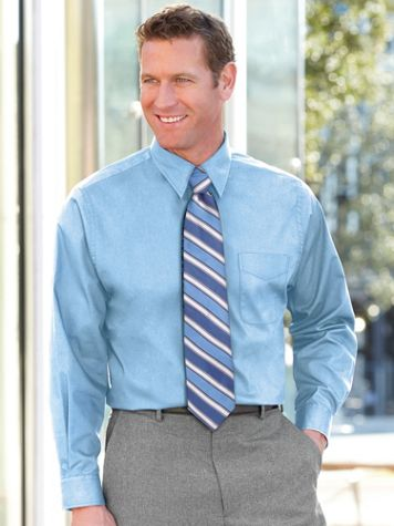 Irvine Park® Long-Sleeve Broadcloth Dress Shirt - Image 1 of 8