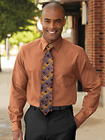 Irvine Park® Long Sleeve Broadcloth Dress Shirt by Blair