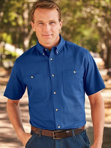 Scandia Woods Short-Sleeve Denim & Twill Shirts - Image 1 of 7