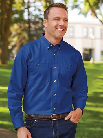 Scandia Woods Long-Sleeve Denim and Twill Shirts - Image 1 of 8