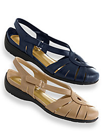 Retro Sandal History: Vintage and New Style Shoes Classique Fisherman Slingback Sandals $29.99 AT vintagedancer.com