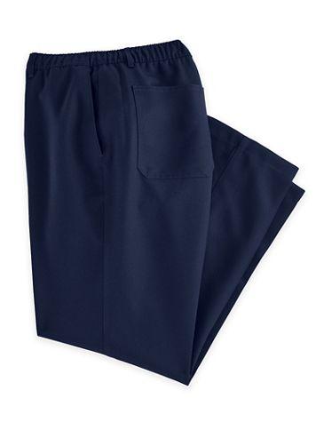 John Blair® Elastic-Waist Mélange Pants - Image 1 of 4
