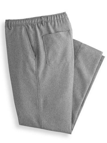 John Blair Relaxed-Fit Full-Elastic Mélange Pants - Image 2 of 3