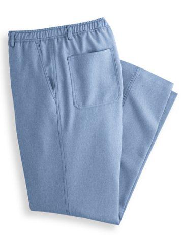 John Blair Relaxed-Fit Full-Elastic Mélange Pants - Image 4 of 4