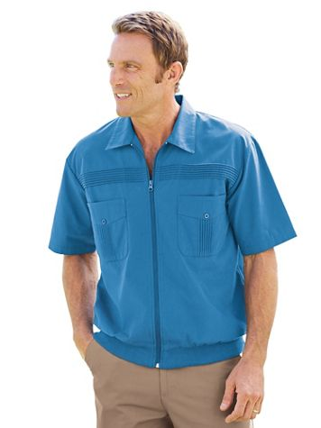 John Blair® Short-Sleeve Zip-Front Shirt - Image 1 of 8