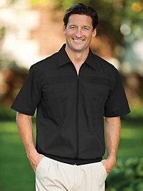 John Blair® Full-Zip Shirt by Blair