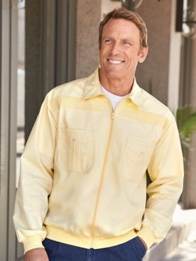 John Blair® Long-Sleeve Zip-Front Shirt