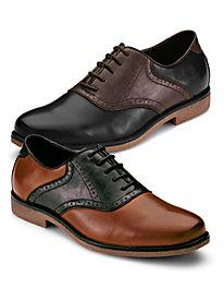 1950s Style Mens Shoes Saddle Shoes $29.97 AT vintagedancer.com