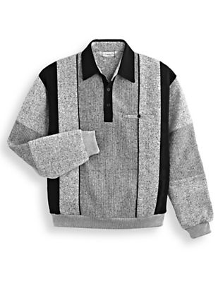 Men's Vintage Style Sweaters – 1920s to 1960s Palmland Heathered Fleece Shirt by Blair $41.99 AT vintagedancer.com