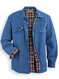 Scandia Woods Flannel-Lined Shirt by Blair