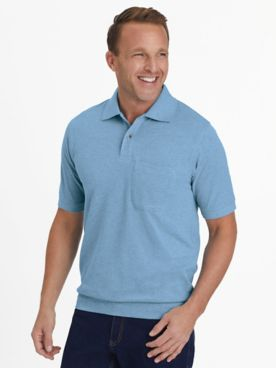 Scandia Woods Banded-Bottom Piqué Knit Polo Shirt