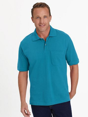 Scandia Woods Short-Sleeve Piqué Knit Polo Shirt - Image 1 of 12