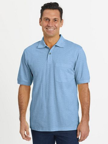 Scandia Woods Short-Sleeve Piqué Knit Polo Shirt - Image 1 of 10