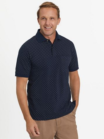 Scandia Woods Short-Sleeve Piqué Knit Polo Shirt - Image 1 of 12