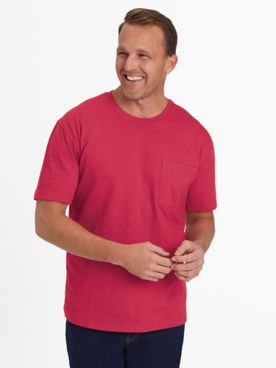 Scandia Woods Short-Sleeve Jersey Knit Pocket Tee Shirt