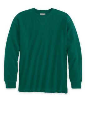 Scandia Woods Waffle-Knit Crewneck Shirt