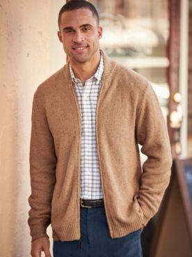 Scandia Woods Flecked Cardigan Sweater