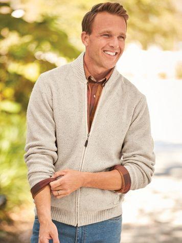 Scandia Woods Flecked Cardigan Sweater - Image 2 of 2