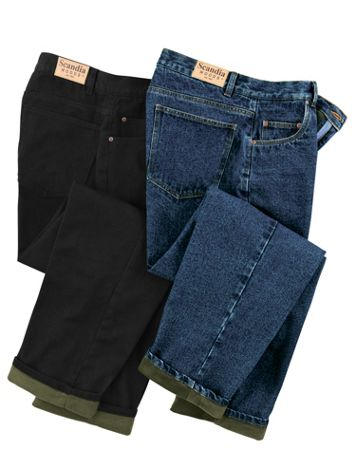 Scandia Woods Fleece-Lined Jeans - Image 1 of 4