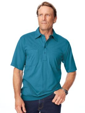 John Blair® Short-Sleeve Banded-Bottom Polo Shirt