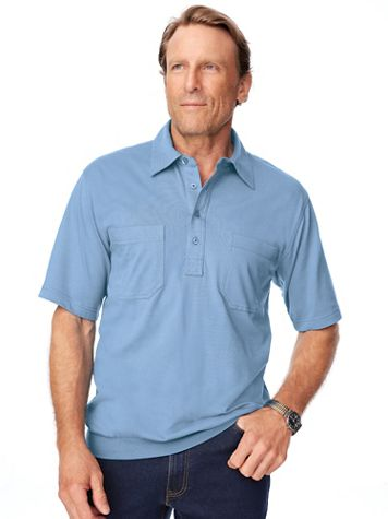 John Blair® Short-Sleeve Banded-Bottom Polo Shirt - Image 1 of 10