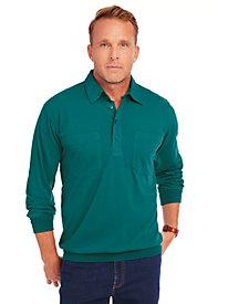 1950s Style Mens Shirts John Blair Long Sleeve Banded Bottom Shirt $7.47 AT vintagedancer.com