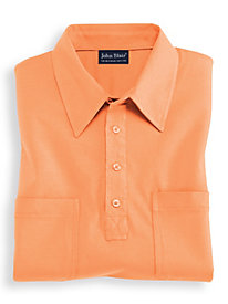 John Blair® Long Sleeve Banded Bottom Polo