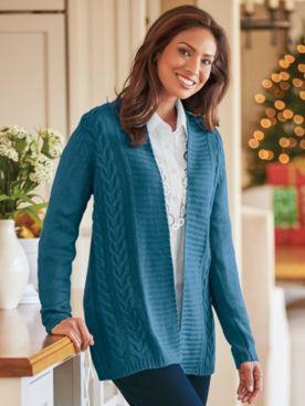 Two Twenty® Cable Sweater Cardigan
