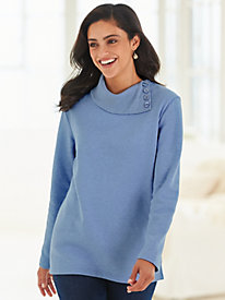 Asymmetrical Neckline Fleece Top