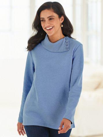Asymmetrical Neckline Fleece Top - Image 1 of 1