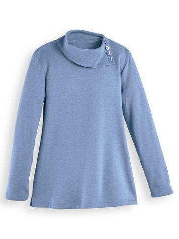 Asymmetrical Neckline Fleece Top - Image 2 of 3