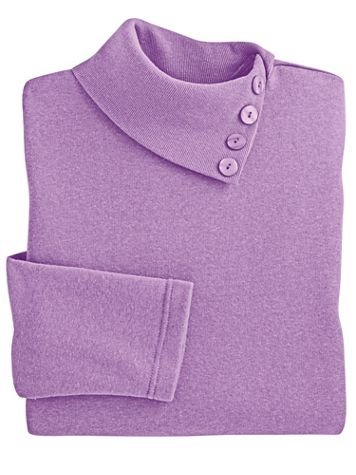 Asymmetrical Neckline Fleece Top - Image 2 of 2