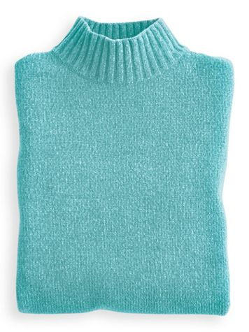 Chenille Mock Neck Sweater - Image 0 of 2