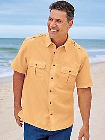 John Blair Linen Look Pilot Shirt by Blair