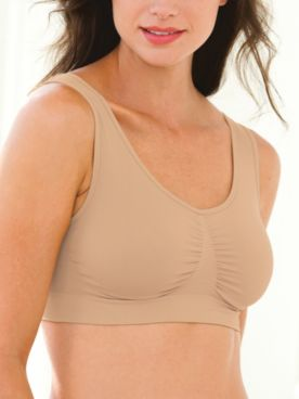 3-Pack Seamless Comfort Bras by ComfortEase