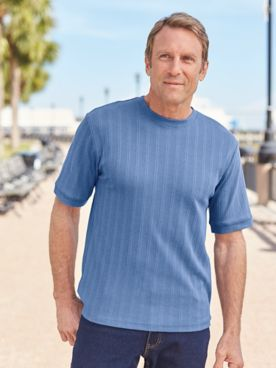 John Blair® Short-Sleeve Crewneck Pullover Shirt