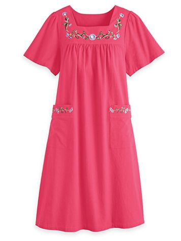 Pull-On Cotton Patio Dress - Image 4 of 4