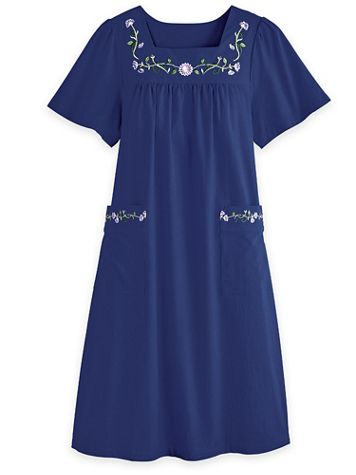 Pull-On Cotton Patio Dress - Image 1 of 4