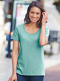 Essential Knit Short-Sleeve Tee