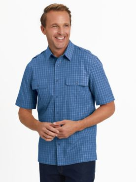 John Blair® Short-Sleeve Woven Pilot Shirt