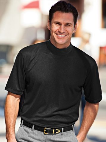 Irvine Park® Textured Mockneck Shirt - Image 1 of 6