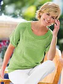 Two Twenty® Sara Crochet Pullover Sweater